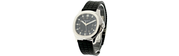Swiss Black Dial Patek Philippe Aquanaut Jumbo Replica Watches
